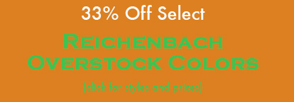 33% Off Select Reich Overstock Colors