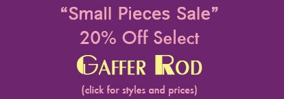 Gaffer Overstock Sale 25% off select color.